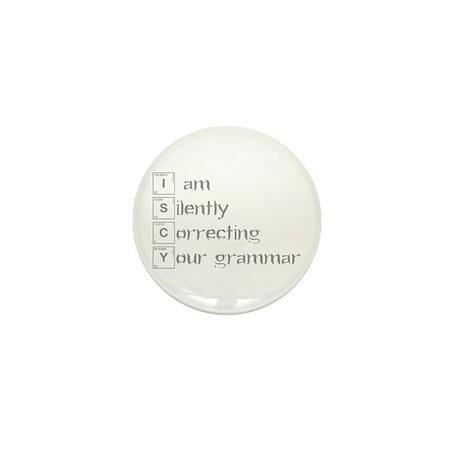 correcting-grammar-break-gray Mini Button (10 pack