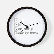 correcting-grammar-break-gray Wall Clock