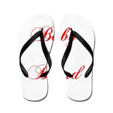 baby-on-board-scr-red Flip Flops