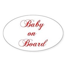baby-on-board-scr-red Stickers