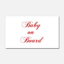 baby-on-board-scr-red Car Magnet 20 x 12