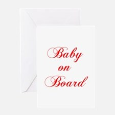 baby-on-board-scr-red Greeting Cards