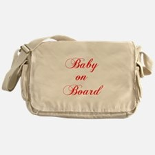 baby-on-board-scr-red Messenger Bag