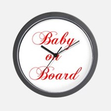 baby-on-board-scr-red Wall Clock