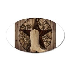 cute western cowgirl Decal Wall Sticker