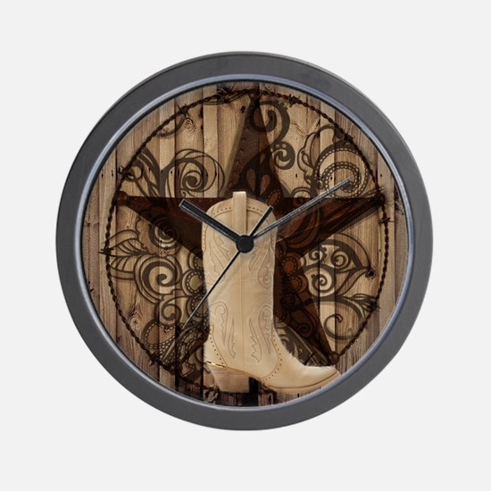 cute western cowgirl Wall Clock