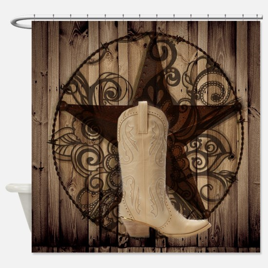 cute western cowgirl Shower Curtain