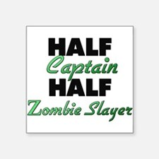 Half Captain Half Zombie Slayer Sticker
