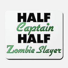 Half Captain Half Zombie Slayer Mousepad