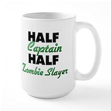 Half Captain Half Zombie Slayer Mugs