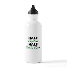 Half Captain Half Zombie Slayer Water Bottle