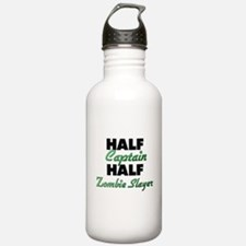 Half Captain Half Zombie Slayer Water Bottle