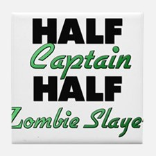 Half Captain Half Zombie Slayer Tile Coaster