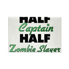 Half Captain Half Zombie Slayer Magnets