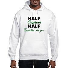 Half Captain Half Zombie Slayer Hoodie