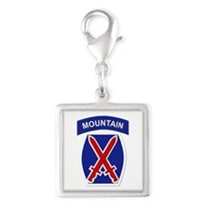 SSI - 10th Mountain Division Silver Square Charm