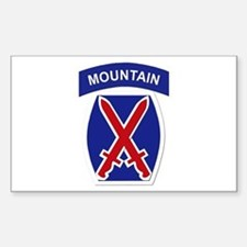 SSI - 10th Mountain Division Sticker (Rectangle)