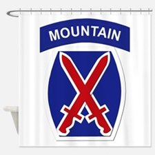SSI - 10th Mountain Division Shower Curtain