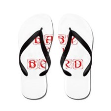 baby-on-board-kon-red Flip Flops