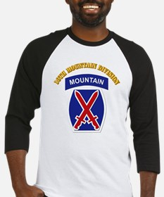 SSI - 10th Mountain Division with Text Baseball Je