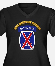 SSI - 10th Mountain Division with Text Women's Plu