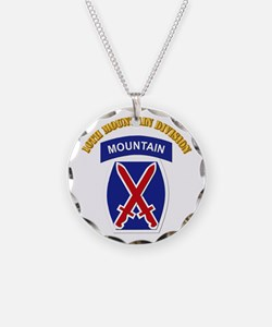 SSI - 10th Mountain Division with Text Necklace