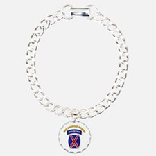 SSI - 10th Mountain Division with Text Bracelet
