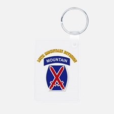 SSI - 10th Mountain Division with Text Keychains