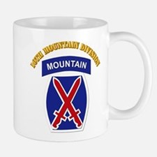 SSI - 10th Mountain Division with Text Small Small Mug