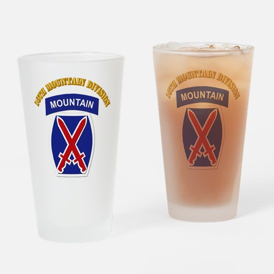 SSI - 10th Mountain Division with Text Drinking Gl