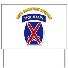 SSI - 10th Mountain Division with Text Yard Sign