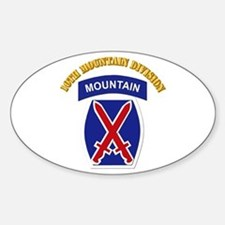 SSI - 10th Mountain Division with Text Decal