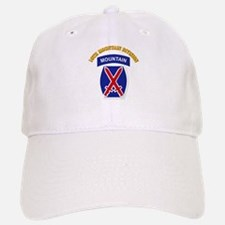 SSI - 10th Mountain Division with Text Baseball Baseball Cap