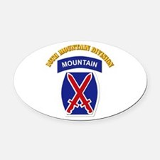 SSI - 10th Mountain Division with Text Oval Car Ma