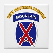 SSI - 10th Mountain Division with Text Tile Coaste