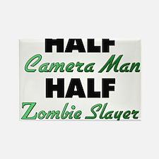 Half Camera Man Half Zombie Slayer Magnets