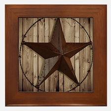 western texas star Framed Tile