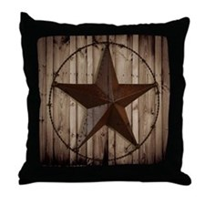 western texas star Throw Pillow