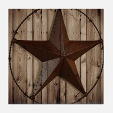 western texas star Tile Coaster