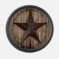 western texas star Large Wall Clock
