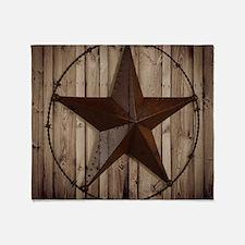 western texas star Throw Blanket