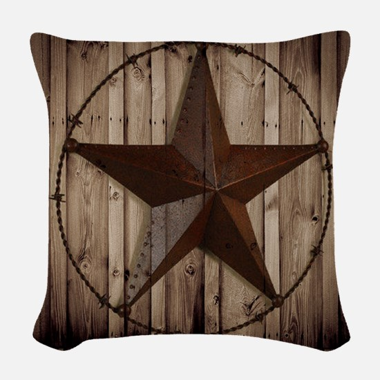 western texas star Woven Throw Pillow