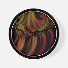 Fractal Flames Wall Clock