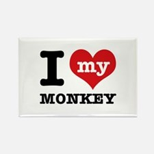 I love my MONKEY Rectangle Magnet