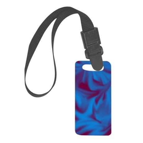 Blue fire Small Luggage Tag