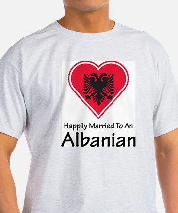 Happily Married Albanian Ash Grey T-Shirt