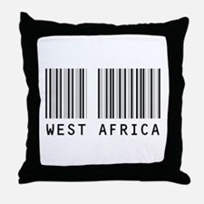 WEST AFRICA Barcode Throw Pillow