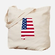 Alabama American Flag Tote Bag