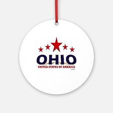 Ohio U.S.A. Ornament (Round)