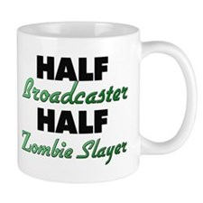 Half Broadcaster Half Zombie Slayer Mugs